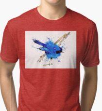 Blue Bird - Fairy Wren Tri-blend T-Shirt