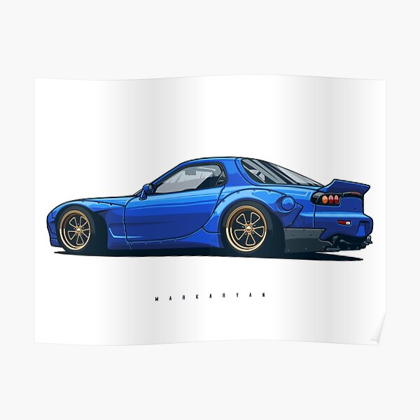 Wide body RX7 Poster