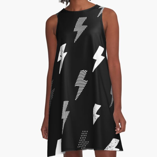thunder pattern A-Line Dress