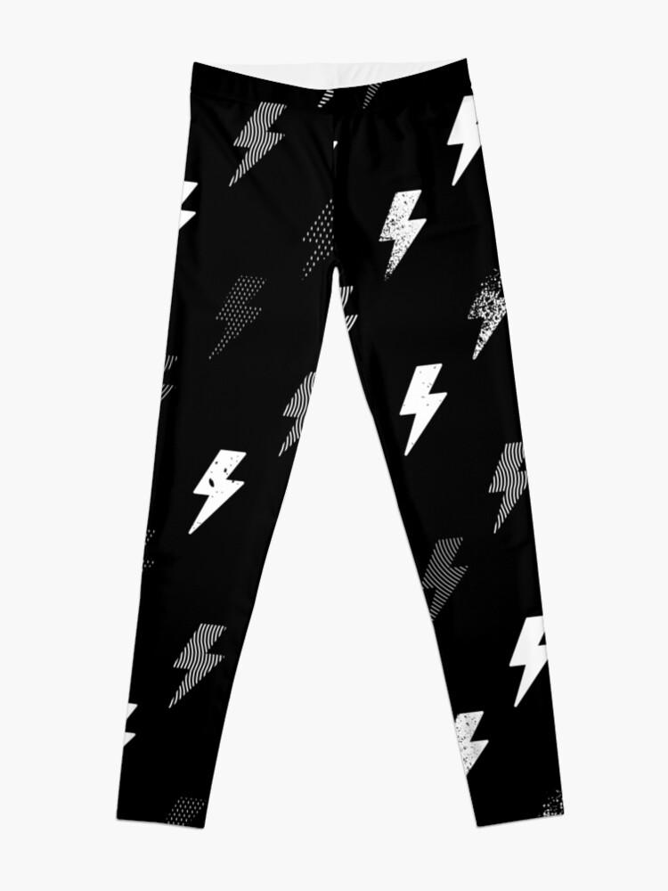 Alternate view of thunder pattern Leggings