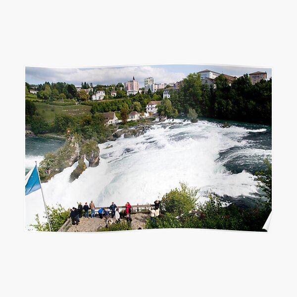 Wasserfall des Rheins Poster