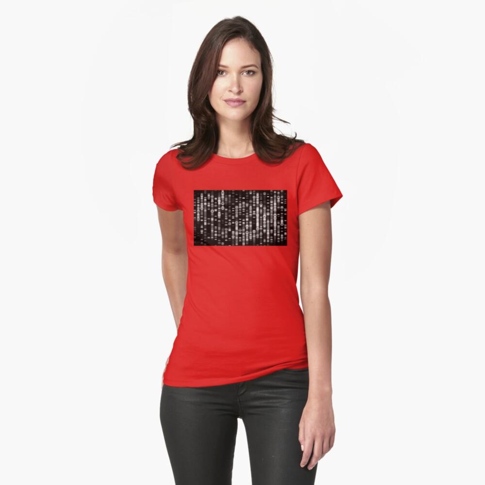 Abstrakte DNA - Schwarz - © Doc Braham; Alle Rechte vorbehalten Tailliertes T-Shirt