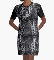 Abstract  DNA - Black - © Doc Braham; All Rights Reserved Graphic T-Shirt Dress