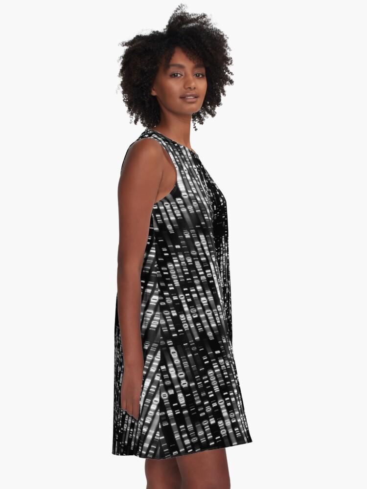 Alternative Ansicht von Abstrakte DNA - Schwarz - © Doc Braham; Alle Rechte vorbehalten A-Linien Kleid