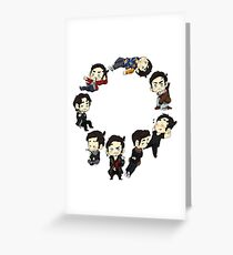 The Characters of Colin O'Donoghue Greeting Card