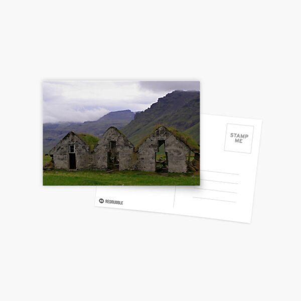 Icelandic Farm Buildings Postcard