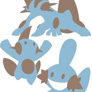 Pokemon Evolution Of Mudkip by MHoughy