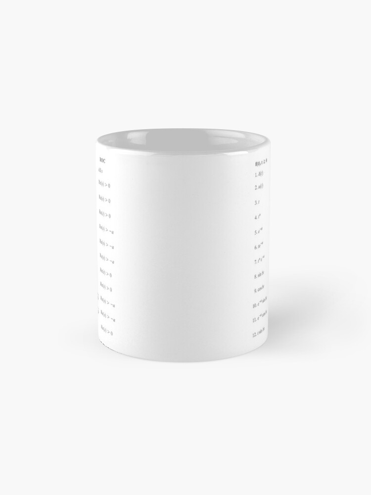 Alternate view of Laplace Transform, Math, Mathematics, Physics, #Laplace, #Transform, #Math, #Mathematics, #Physics, #LaplaceTransform Mug