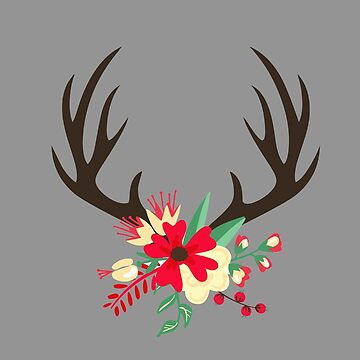 Christmas deer by waarpys