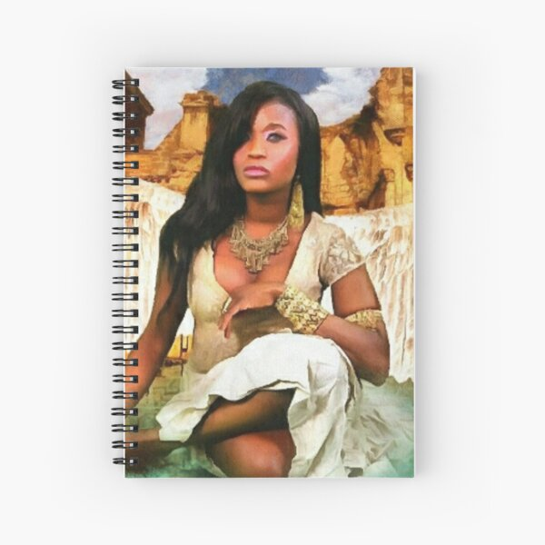 Desert Angel, Rolando Garcia,  prison art,  prison art ware,  prison artist,  PrisonArtWare.com,  PrisonArtWare, angel, gift ideas, great gift, gift for student Spiral Notebook