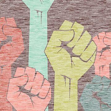 Feminist MeToo Fist by BetteB
