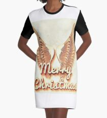 Christmas Angel Graphic T-Shirt Dress