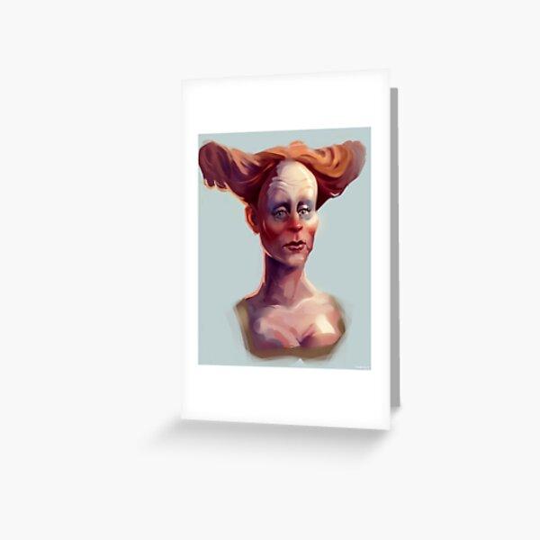 Clown Lady of the Renaissance Carte de vœux