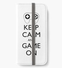 KEEP CALM AND GAME ON - Game pad iPhone Wallet/Case/Skin