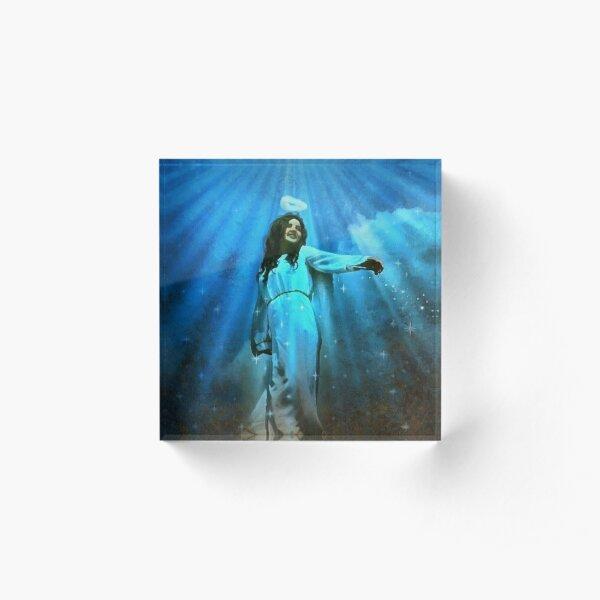 Deep Blue Angel Acrylic Block