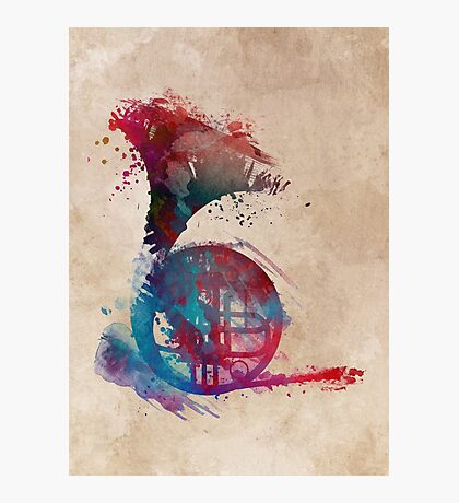 French horn #frenchhorn #music #art Photographic Print