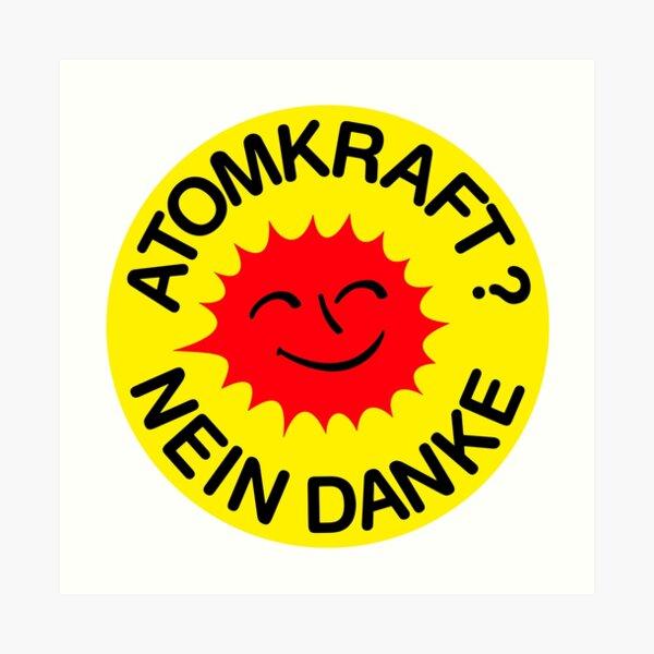 Atomkraft nein Danke Art Print