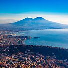 Naples and Mt Vesuvius by Kristoffer Glenn Pfalmer