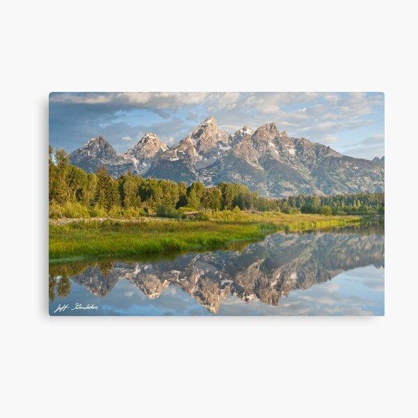 Teton Range Reflected in the Snake River Metal Print