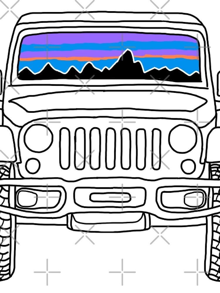 Jeep Sunset con montañas de abbyconnellyy