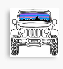 Jeep Sunset with Mountains Canvas Print