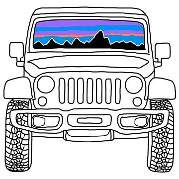 Jeep Sunset with Mountains by abbyconnellyy