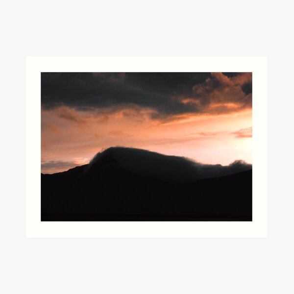 Mist rolling in off the Mountain Art Print