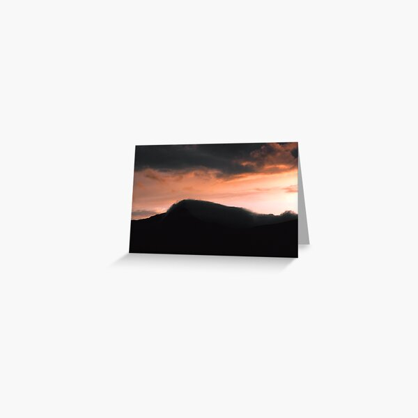 Mist rolling in off the Mountain Greeting Card