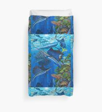 Sailfish Reef Duvet Cover
