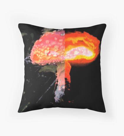 Nuclear Mushroom Throw Pillow