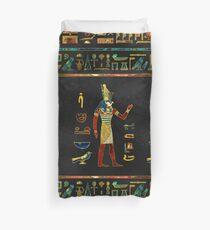 Funda nórdica Patrón egipcio de oro, verde azulado y vidrio rojo