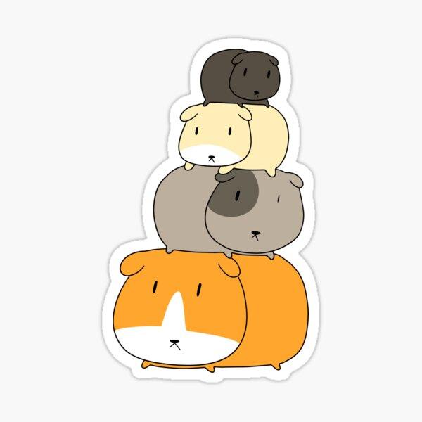 Guinea Pig Stack Sticker