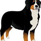 Bernese Mountain dog by Marina Sterina