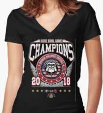 Rose-Bowl-Game-Champions Women's Fitted V-Neck T-Shirt