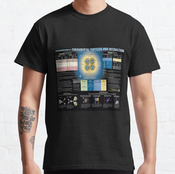 Educational Poster: The Standard Model of Fundamental Particles and Interactions Classic T-Shirt