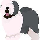 Old english sheepdog by Marina Sterina