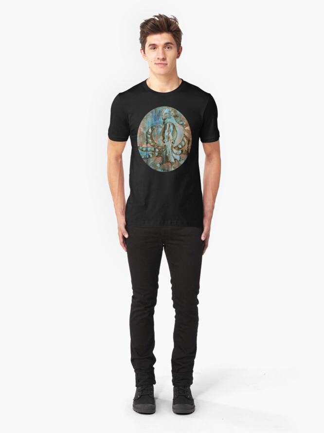 Alternate view of Gilded Creatures Slim Fit T-Shirt