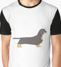 dachshund blue and tan silhouette Graphic T-Shirt