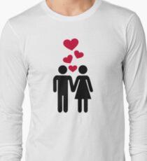 Couple red heart Long Sleeve T-Shirt