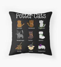 Harry Pawter Cute Kitten Potter Cats Throw Pillow