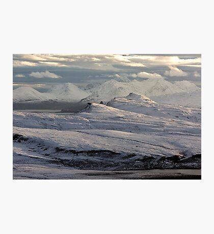 Trotternish Peninsula and Cuillin Mountains Isle of Skye Photographic Print