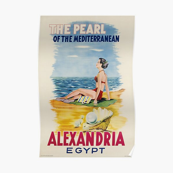 Alexandria,Egypt,Travel Poster Poster