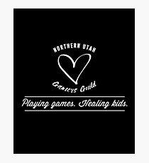 Northern Utah Gamers Guild. Playing Games. Healing Kids. Photographic Print