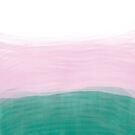 Teal and Pink Watercolour Ombre by Fangpunk