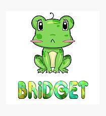 Bridget Frog Photographic Print