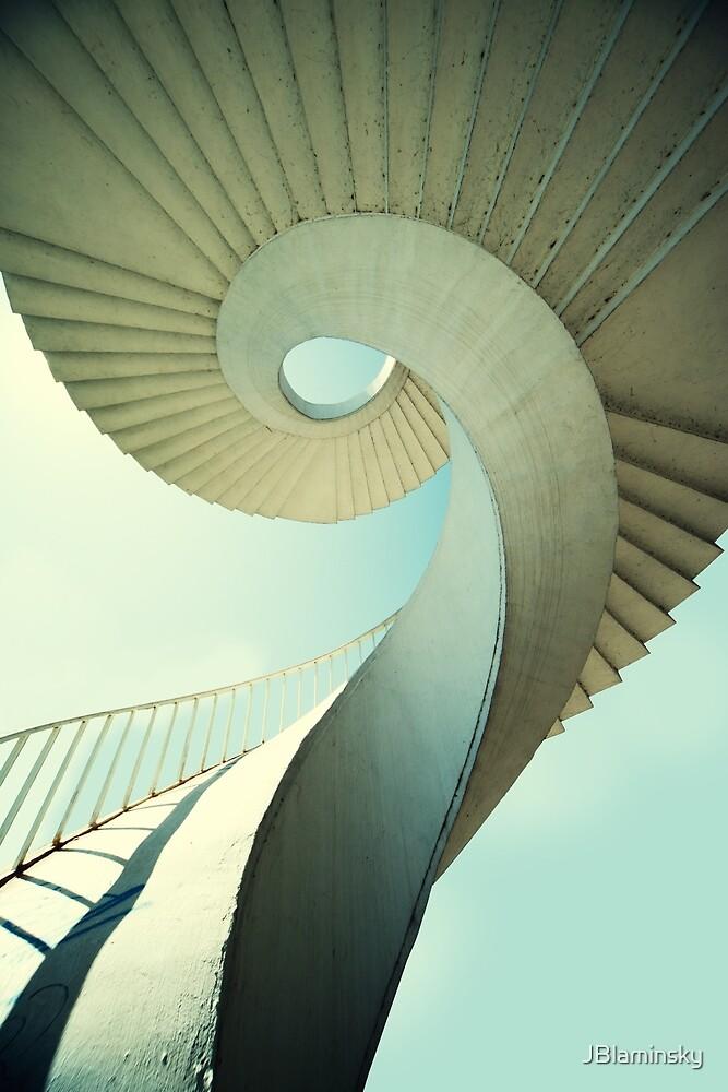 Spiral stairs in pastel tones by JBlaminsky