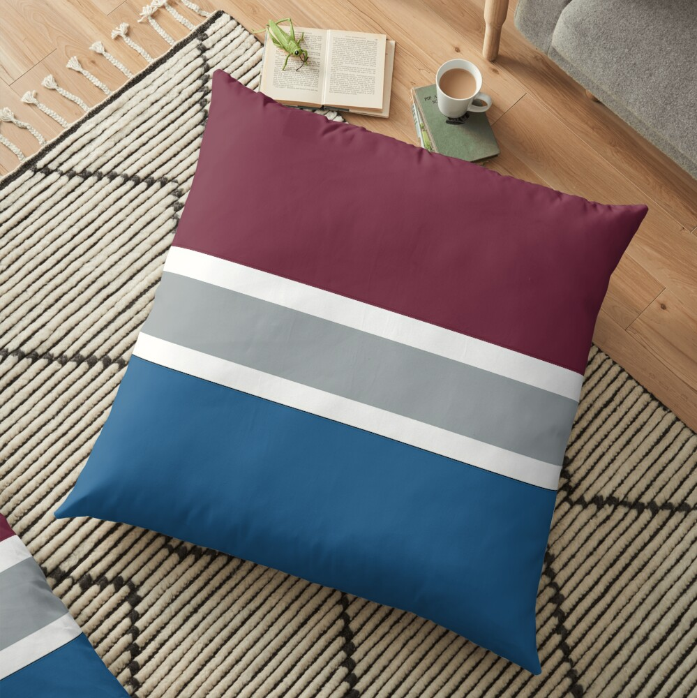Nhl Colorado Avalanche Floor Pillow By Lizsomenot Redbubble