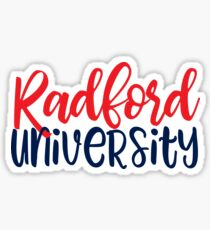 RU - Radford University Sticker