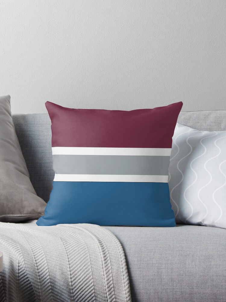 Nhl Colorado Avalanche Throw Pillow By Lizsomenot Redbubble