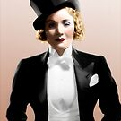 Marlene Dietrich - Colorized by Laurynsworld